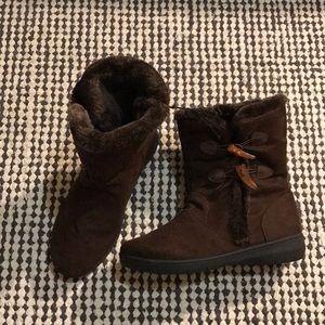 Sag Harbor fleece-lined winter booties